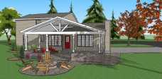 Covered Patio Concept Sketch